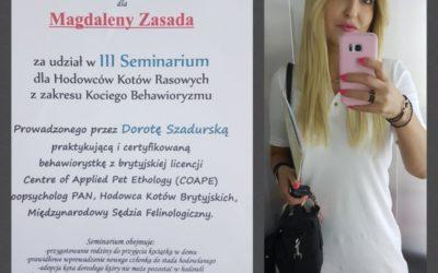 III SEMINARIUM DLA HODOWCÓW KOTÓW/ 15.06.2018